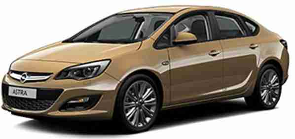 Opel Astra IV (J) седан (P10) (Опель Астра П10) 2012-2015